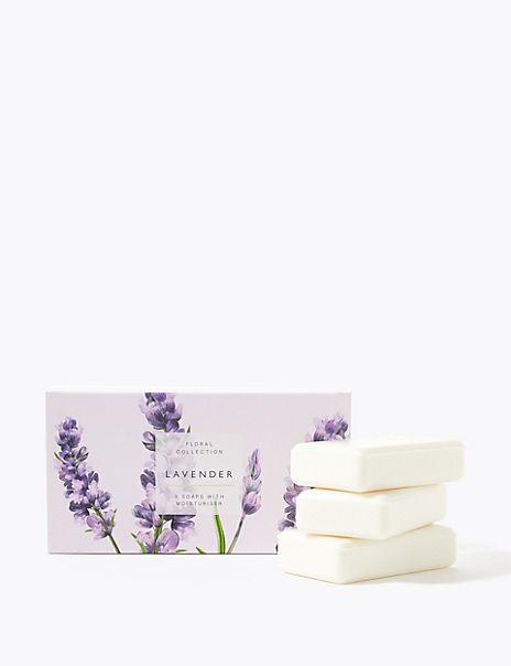 Set of 3 Lavender Soaps