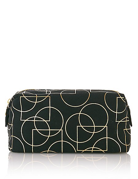 Black Art Deco Make-Up Bag