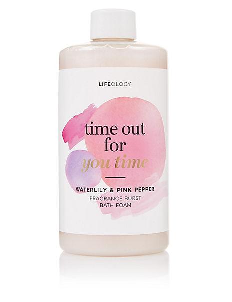 Waterlily & Pink Pepper Fragrance Burst Bath Foam 500ml