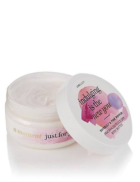 Waterlily & Pink Pepper Fragranced Quick Dry Body Butter 250ml