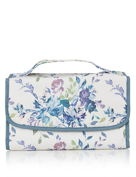 Floral Hanging Make Up Bag