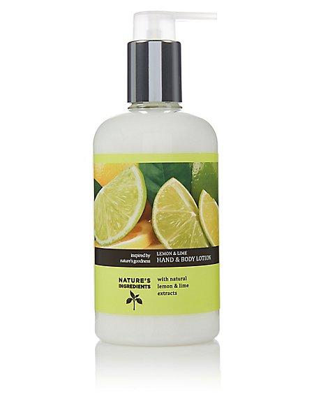 Lemon & Lime Hand and Body Lotion 300ml