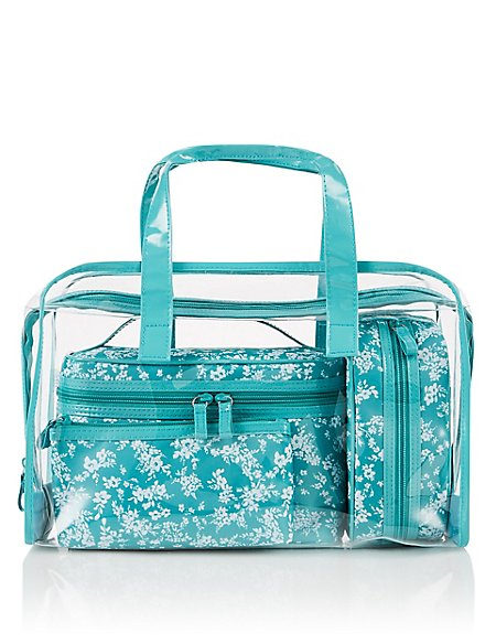 Clear Small Floral Bag