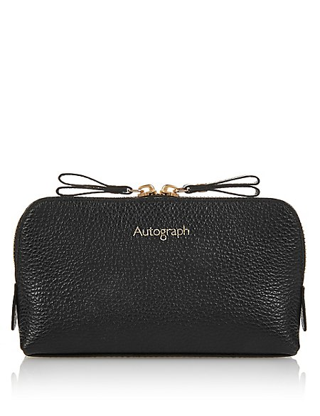 Luxury Leather Cosmetic Purse