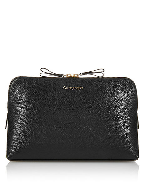 Luxury Leather Wash Bag
