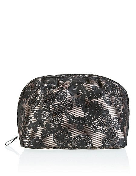 Dot Lace Wash Bag