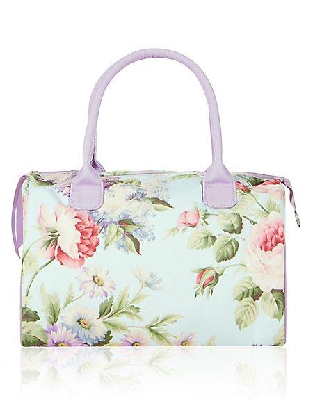 Floral Blue Weekender Cosmetic Bag