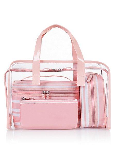 4 Piece Cosmetic Bag Set