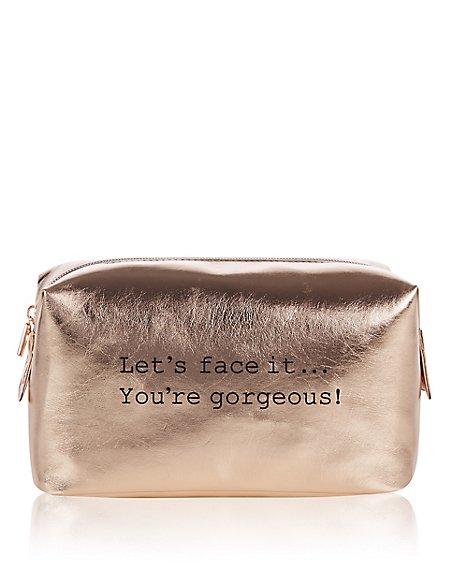Rose Gold Make Up Bag