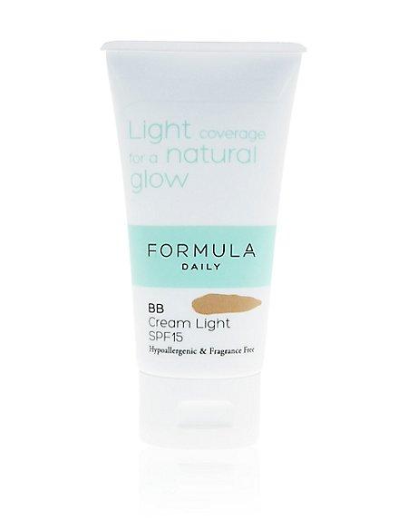 Sensitive BB Cream Light SPF15 50ml
