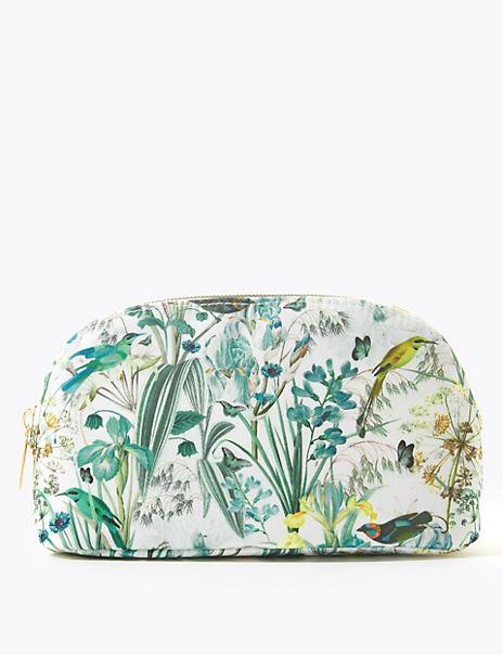 Printed Botanical Make-up Bag