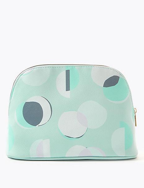Circle Print Make-up Bag