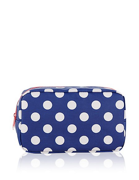 Small Polka Dot Cosmetic Bag