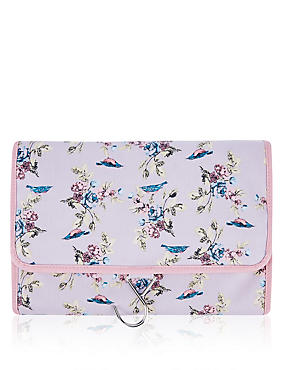 Vintage Bird Print Hanging Bag