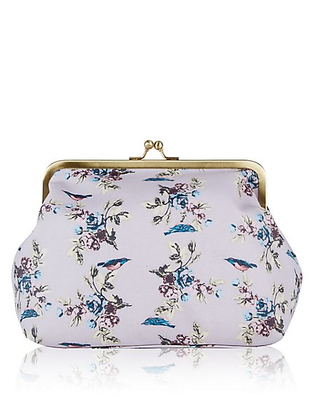 Vintage Bird Print Washbag