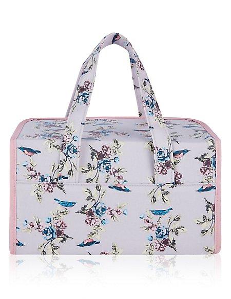 Vintage Bird Print Weekender Bag