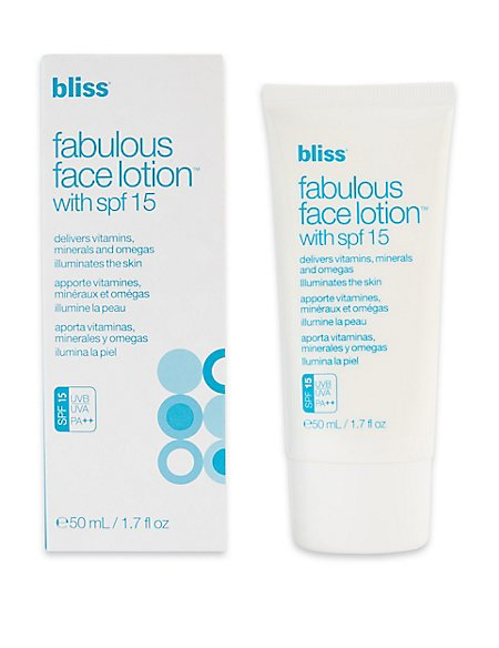 Fabulous Face Lotion SPF15 50ml
