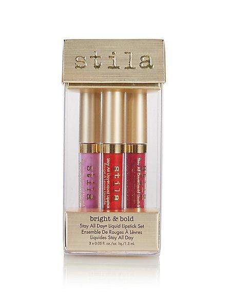 Stay All Day Liquid Lipstick Set in Bright & Bold