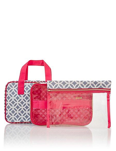 Grace Smoke Geometric Folding Beauty Bag
