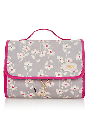 Emma Smoke Floral Hanging Beauty Bag