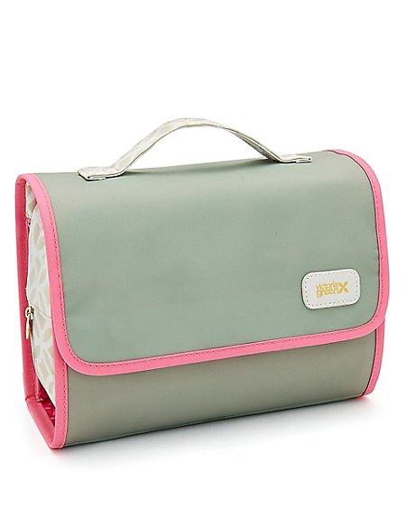 Emma Sage Plain Hanging Beauty Bag