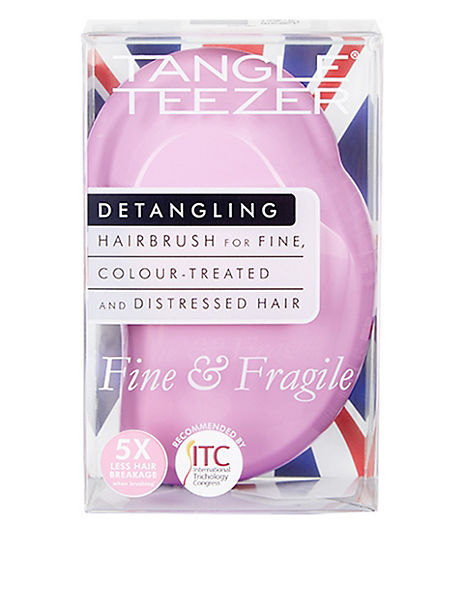 Fine & Fragile Detangling Hairbrush, Pink Dawn