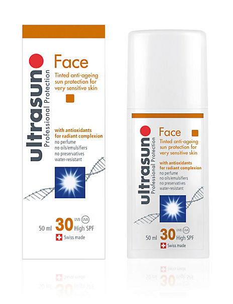 Tinted Anti-Ageing Sun Cream for Sensitive Skin SPF30 50ml