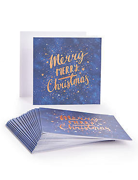 Copper Text Christmas Charity Cards Pack of 20