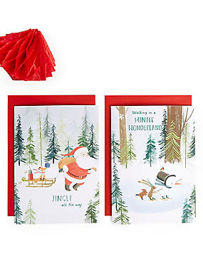 Winter Characters Christmas Charity Cards Pack of 20