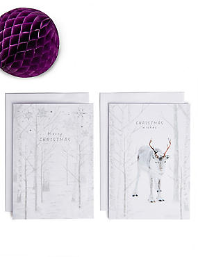 Winter Woodland Christmas Charity Cards Pack of 20, , catlanding