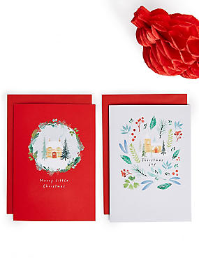 Festive Scenes Christmas Charity Cards Pack of 20