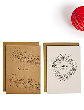Gold Scatter Christmas Charity Card Pack of 20