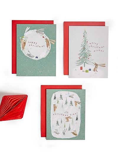 20er-Pack festliche Weihnachtskarten mit niedlichen Figuren für ...