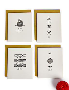 Festive Icons Christmas Charity Cards Pack of 20
