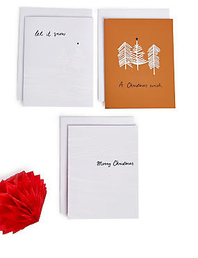 Snowy Scenes Christmas Charity Cards Pack of 20