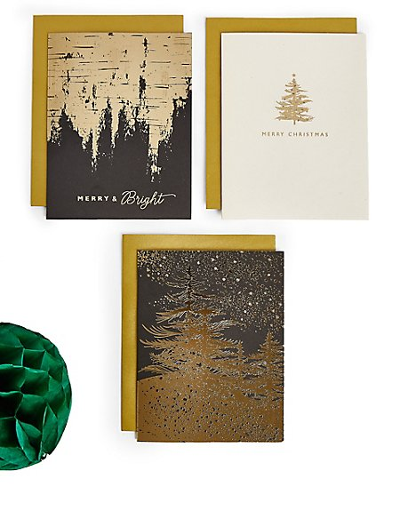 Black & Gold Christmas Charity Cards Pack of 20