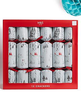 Polar Bear Family Christmas Crackers Pack of 12