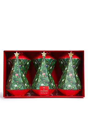 Christmas crackers ms christmas tree shaped christmas crackers pack of 6 solutioingenieria Image collections