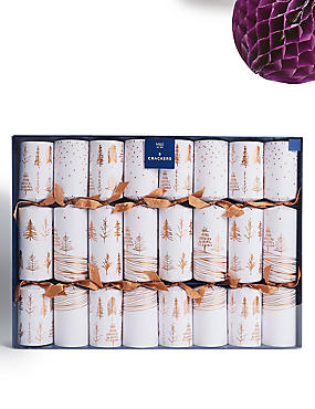 Copper Trees Luxury Christmas Crackers Pack of 8