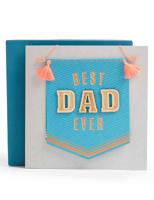 Best Dad Ever Banner Fathers Day Card