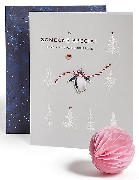 Someone Special Penguin Christmas Charity Card