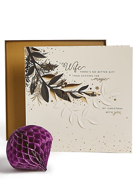 Wife Foliage Christmas Charity Card