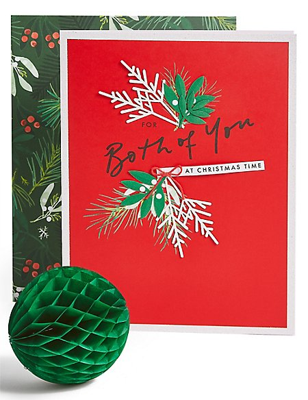 Both of you Foliage Christmas Charity Card