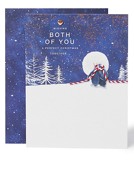 Both of You Penguin Christmas Charity Card