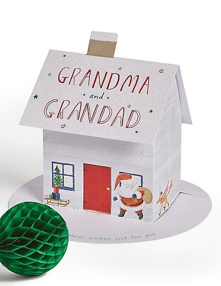 Grandma & Grandad Pop-up House Christmas Charity Card