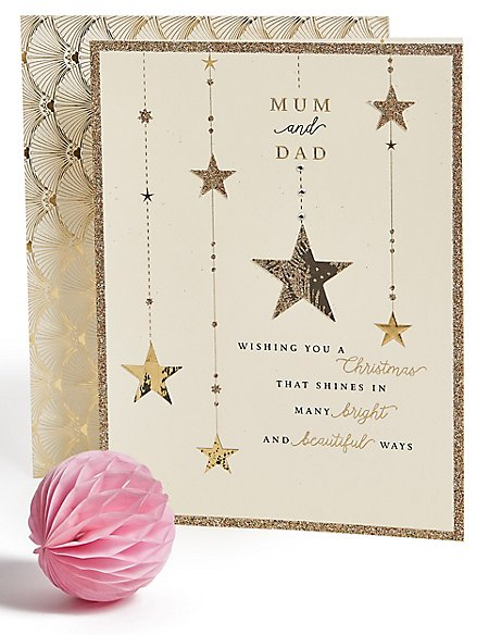 Mum & Dad Stars Christmas Charity Card