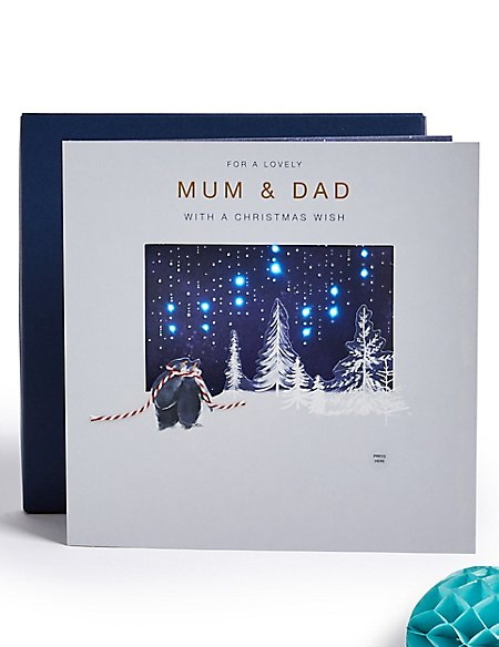 Mum & Dad Light-up Christmas Charity Card