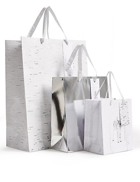 Winter Woodland Christmas Gift Bags Pack of 3