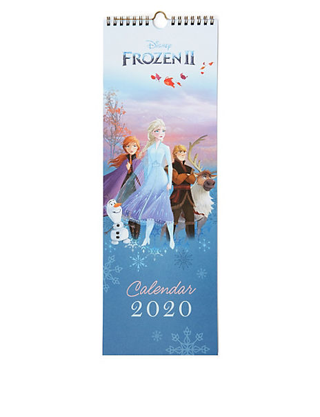 Disney Frozen 2 12 Month Calendar for 2020 - Slim
