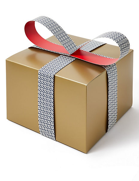 Large Christmas Gift Box with Paper Bow